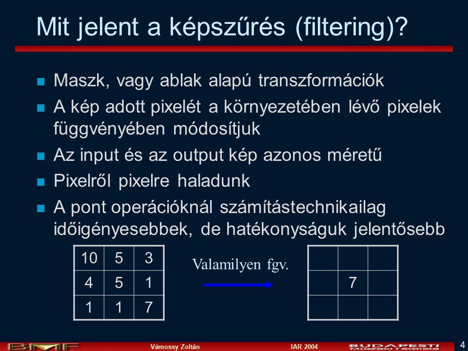 Mit jelent a képszűrés (filtering)