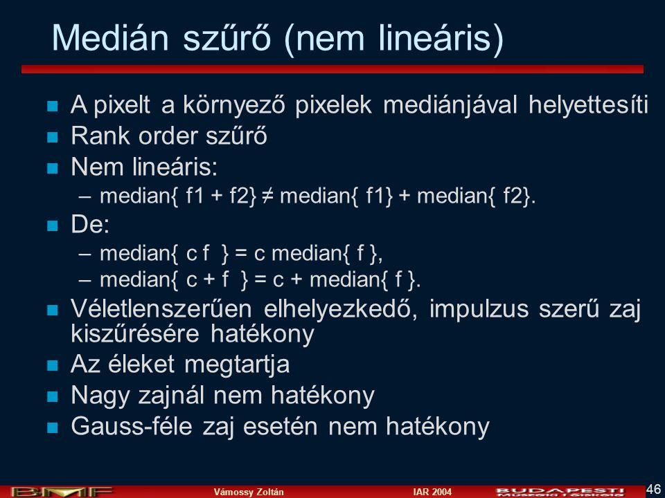 Medián szűrő (nem lineáris)