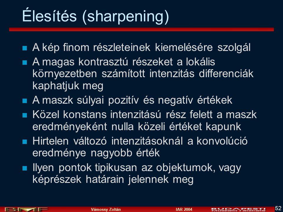 Élesítés (sharpening)
