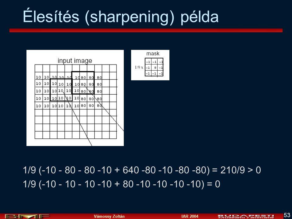 Élesítés (sharpening) példa