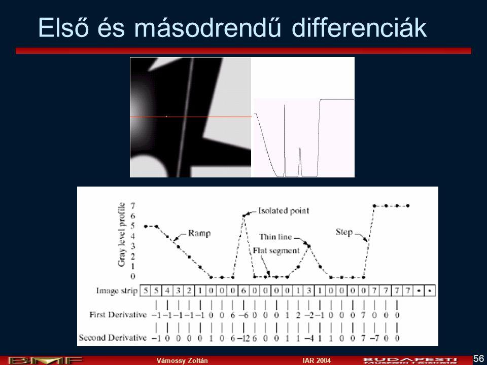 Első és másodrendű differenciák