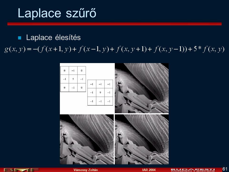 Laplace szűrő Laplace élesítés