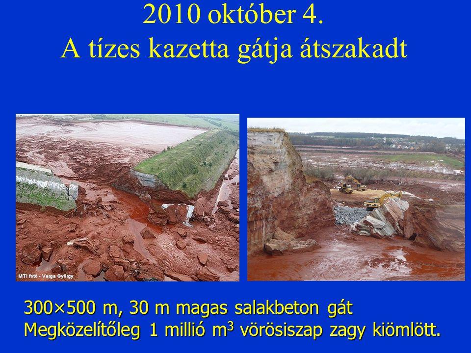 2010 október 4. A tízes kazetta gátja átszakadt