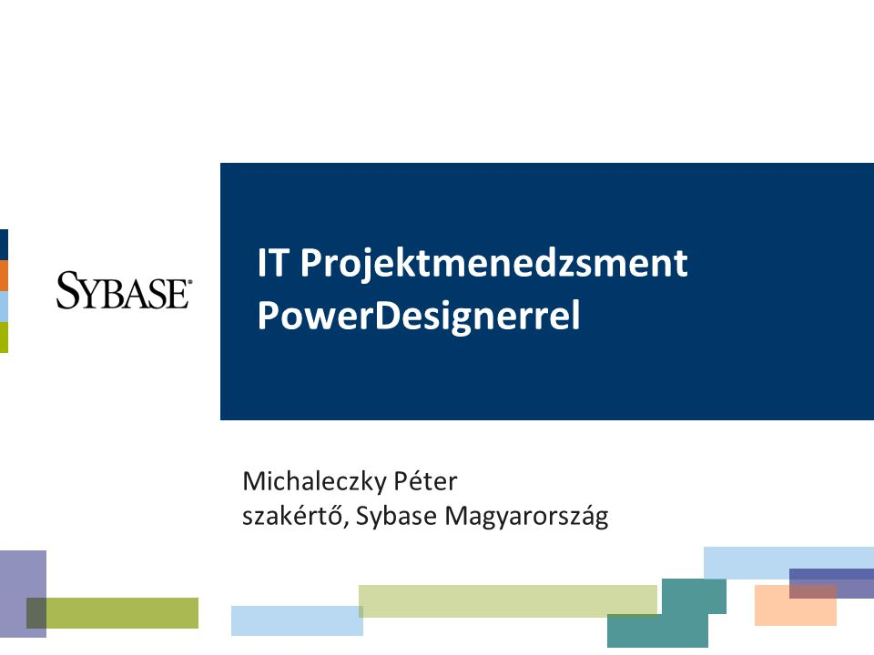 IT Projektmenedzsment PowerDesignerrel