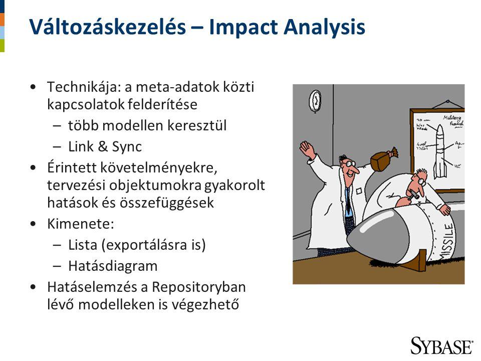 Változáskezelés – Impact Analysis