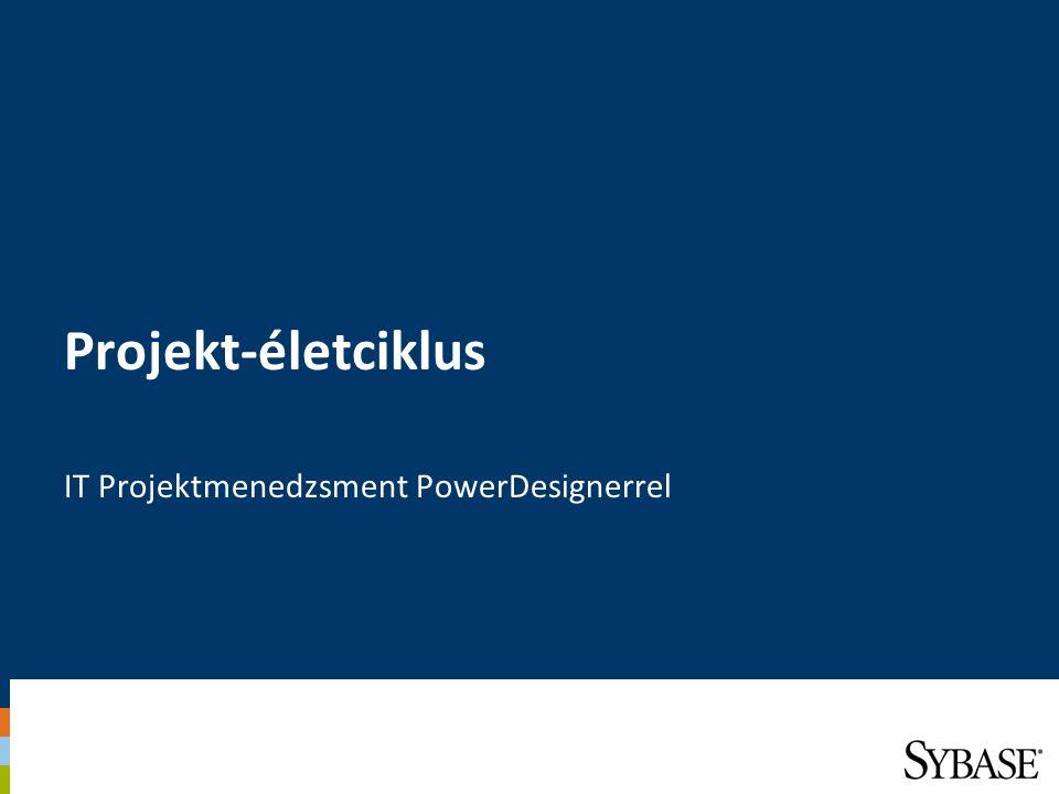 Projekt-életciklus IT Projektmenedzsment PowerDesignerrel
