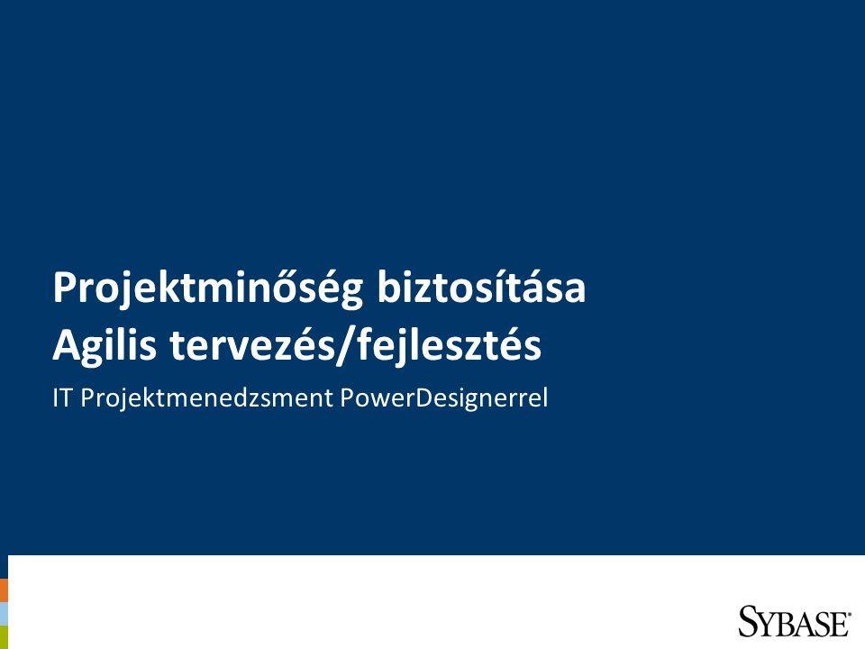 Projektminőség biztosítása Agilis tervezés/fejlesztés