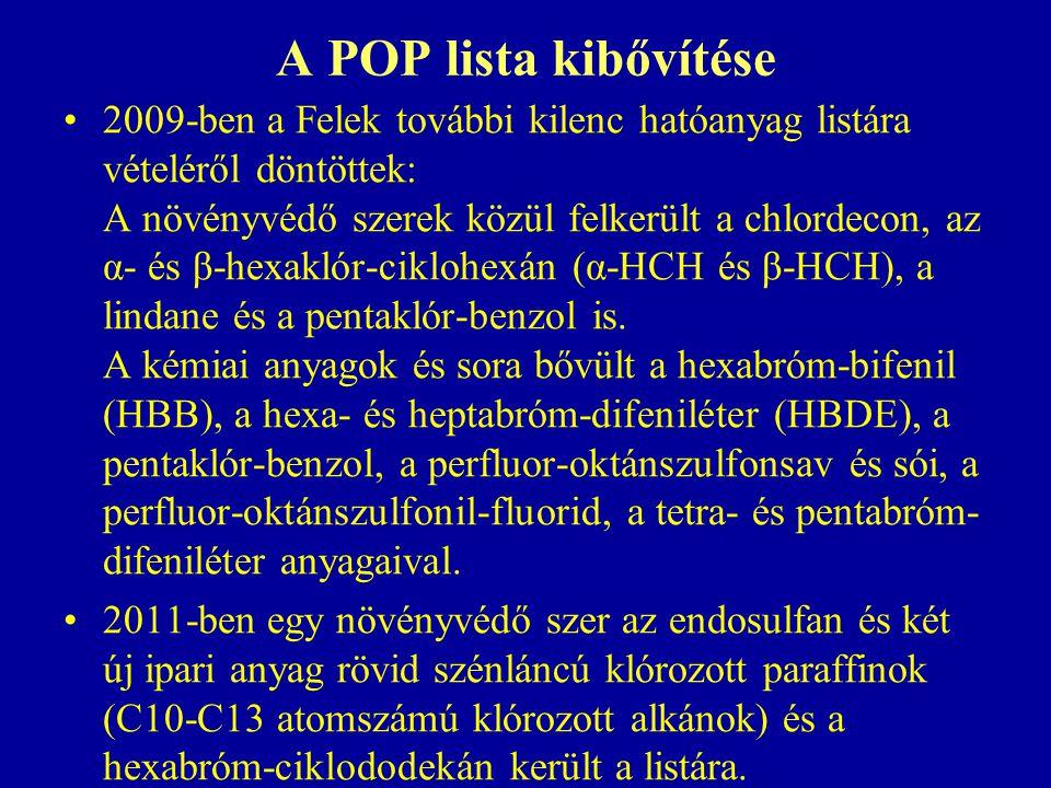 A POP lista kibővítése