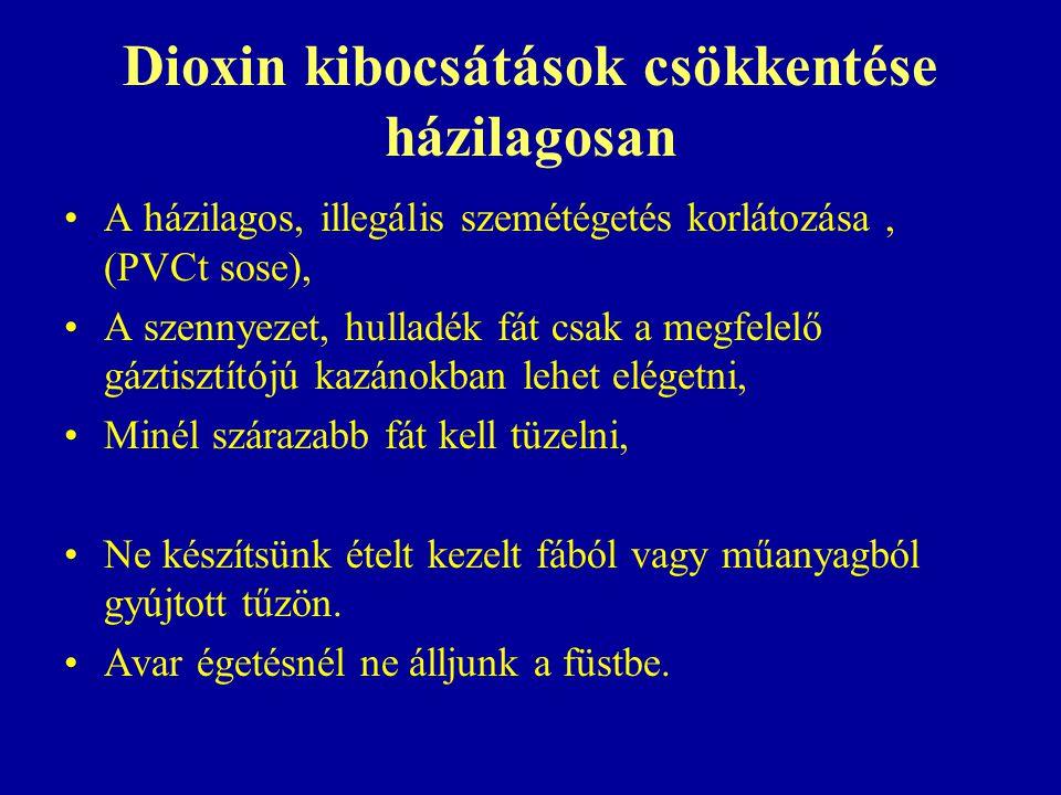 Dioxin kibocsátások csökkentése házilagosan