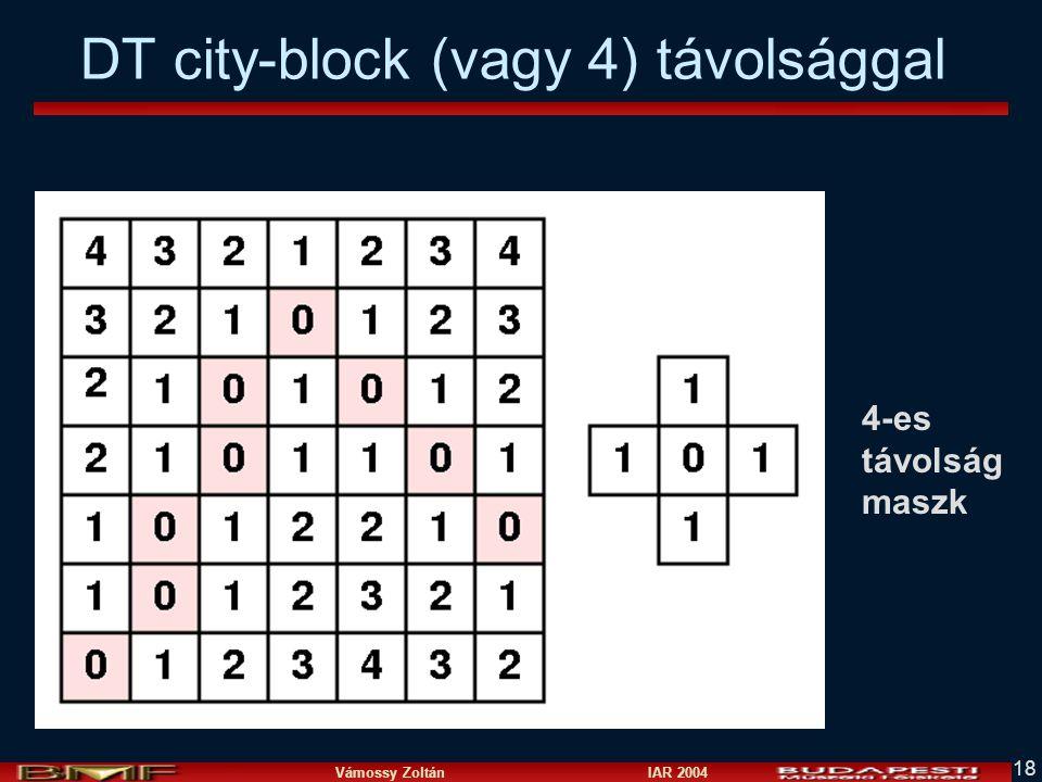 DT city-block (vagy 4) távolsággal