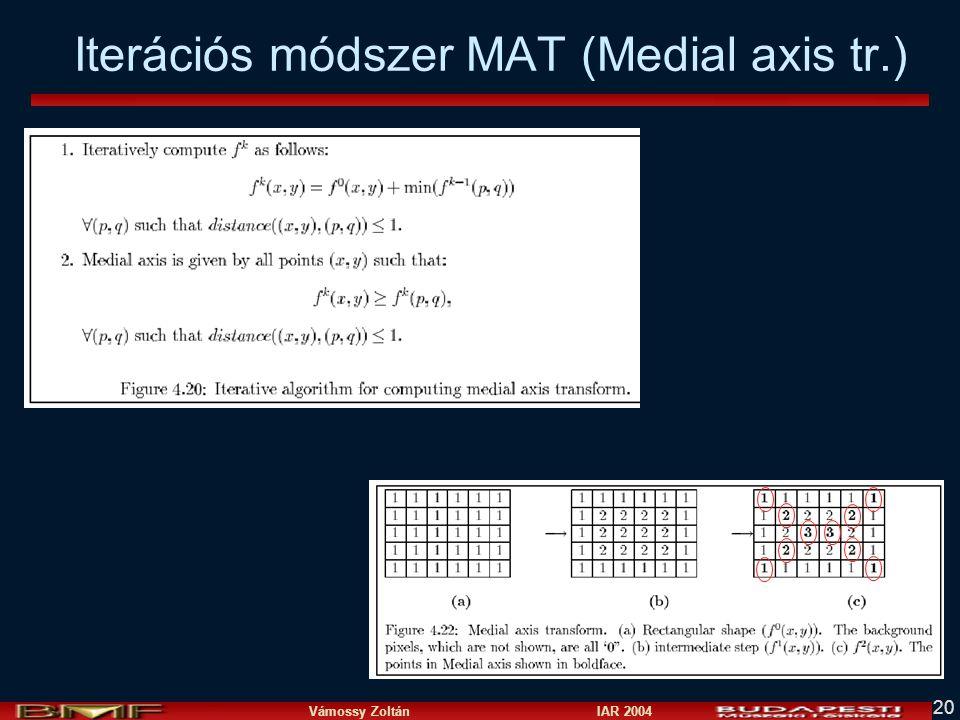 Iterációs módszer MAT (Medial axis tr.)