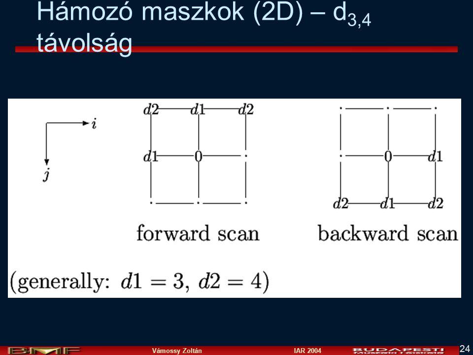 Hámozó maszkok (2D) – d3,4 távolság