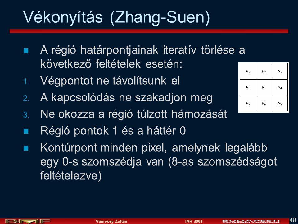 Vékonyítás (Zhang-Suen)