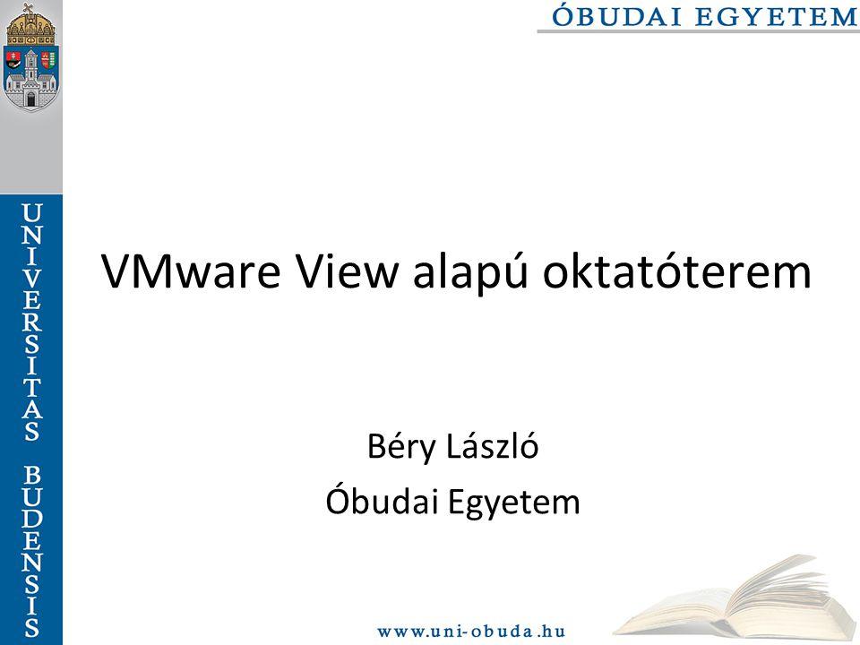 VMware View alapú oktatóterem