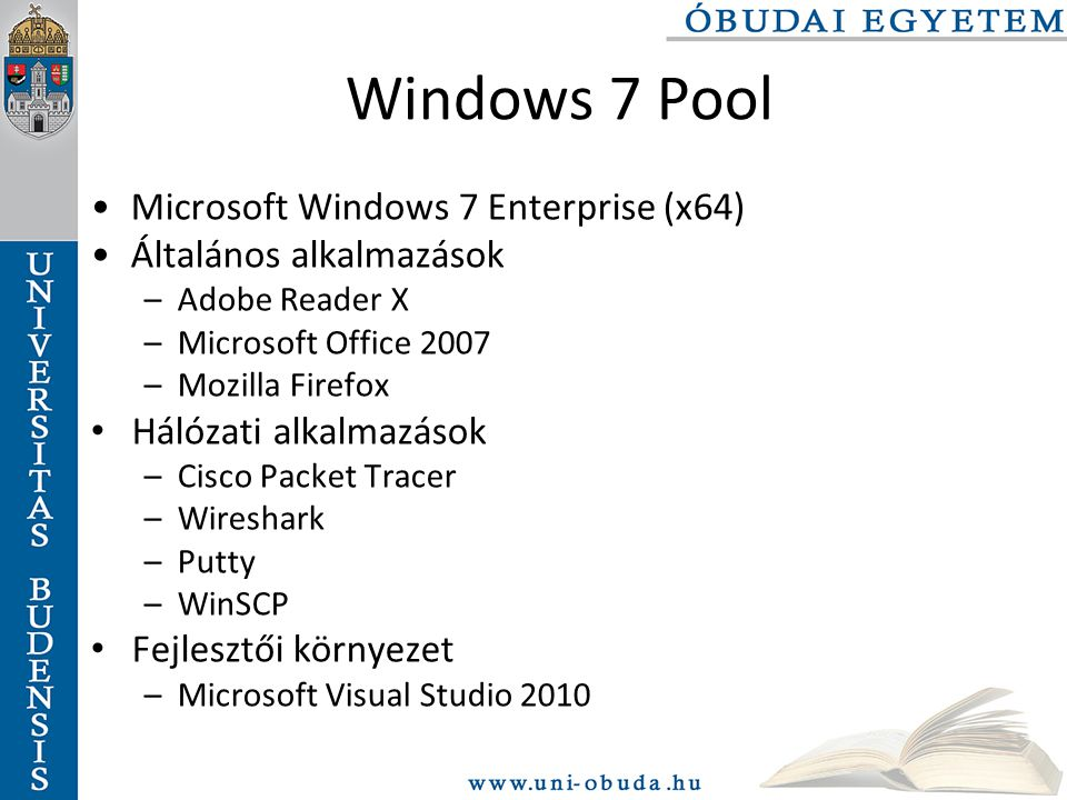 Windows 7 Pool Microsoft Windows 7 Enterprise (x64)