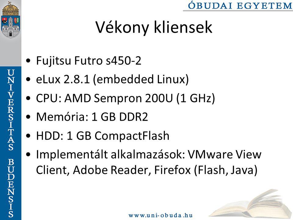 Vékony kliensek Fujitsu Futro s450-2 eLux 2.8.1 (embedded Linux)
