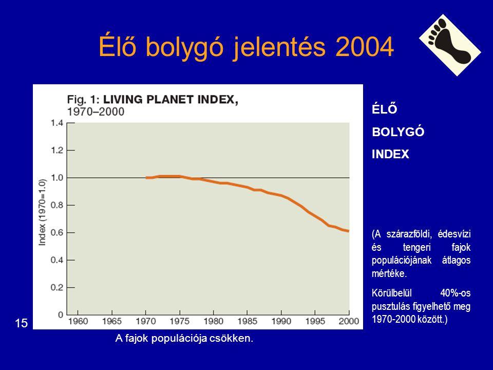 Élő bolygó jelentés 2004 ÉLŐ BOLYGÓ INDEX 15
