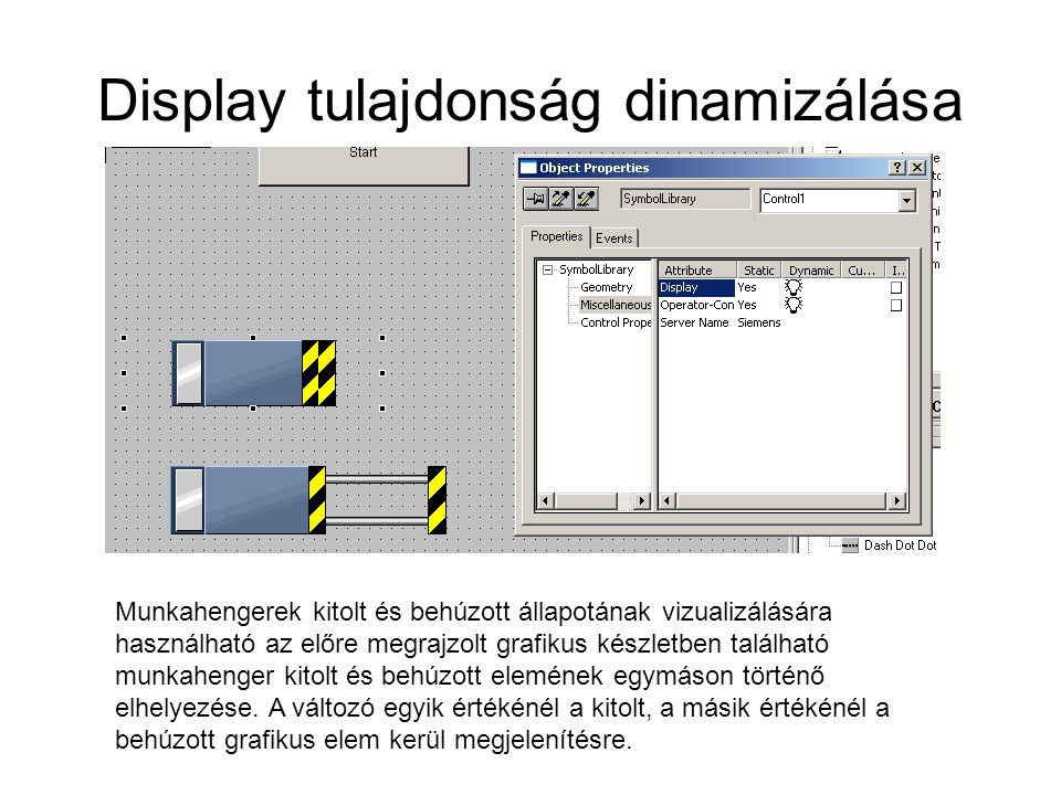 Display tulajdonság dinamizálása