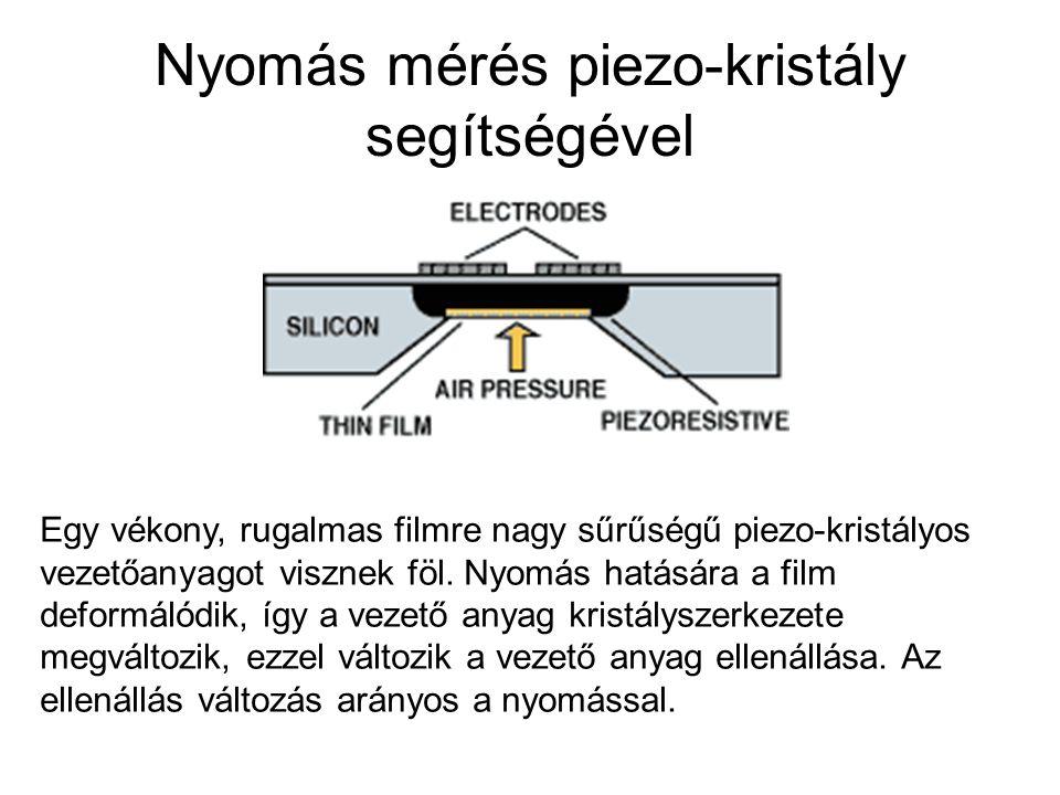 Nyomás mérés piezo-kristály segítségével