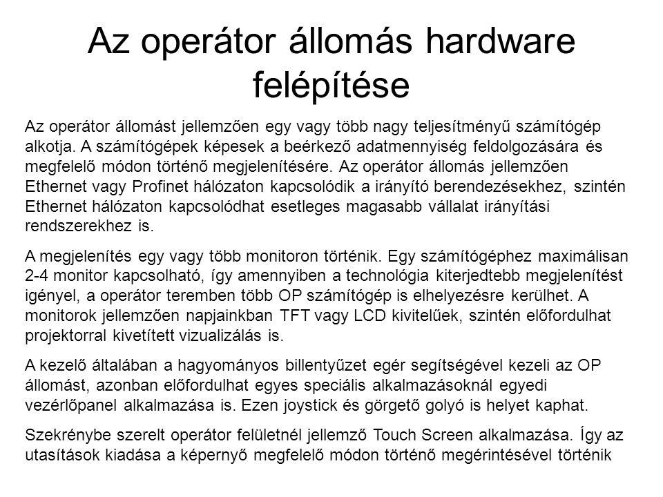 Az operátor állomás hardware felépítése
