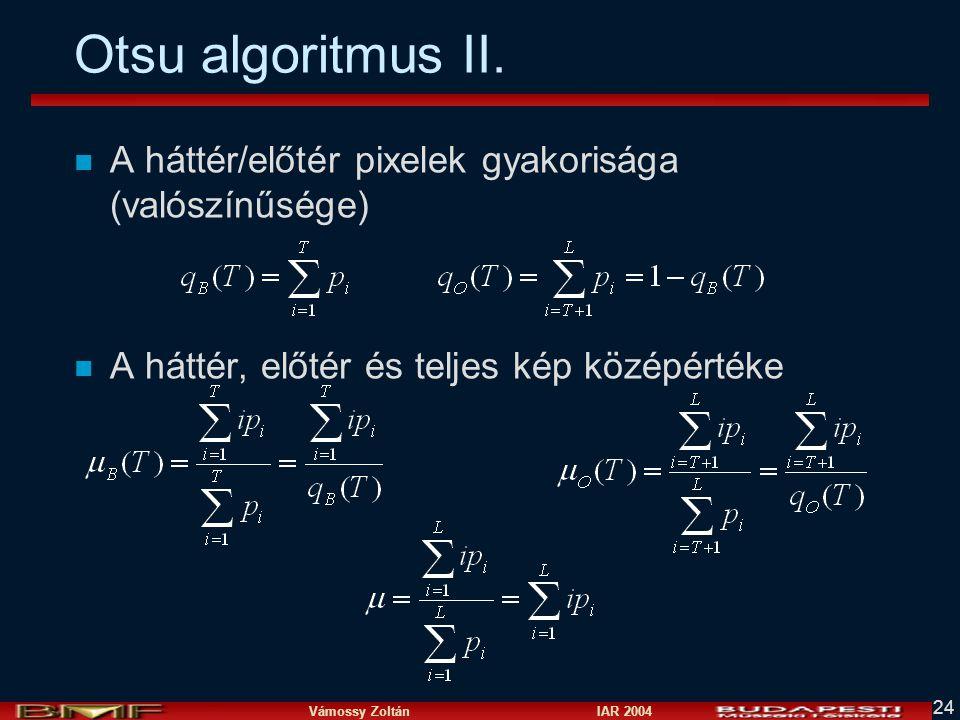 Otsu algoritmus II.