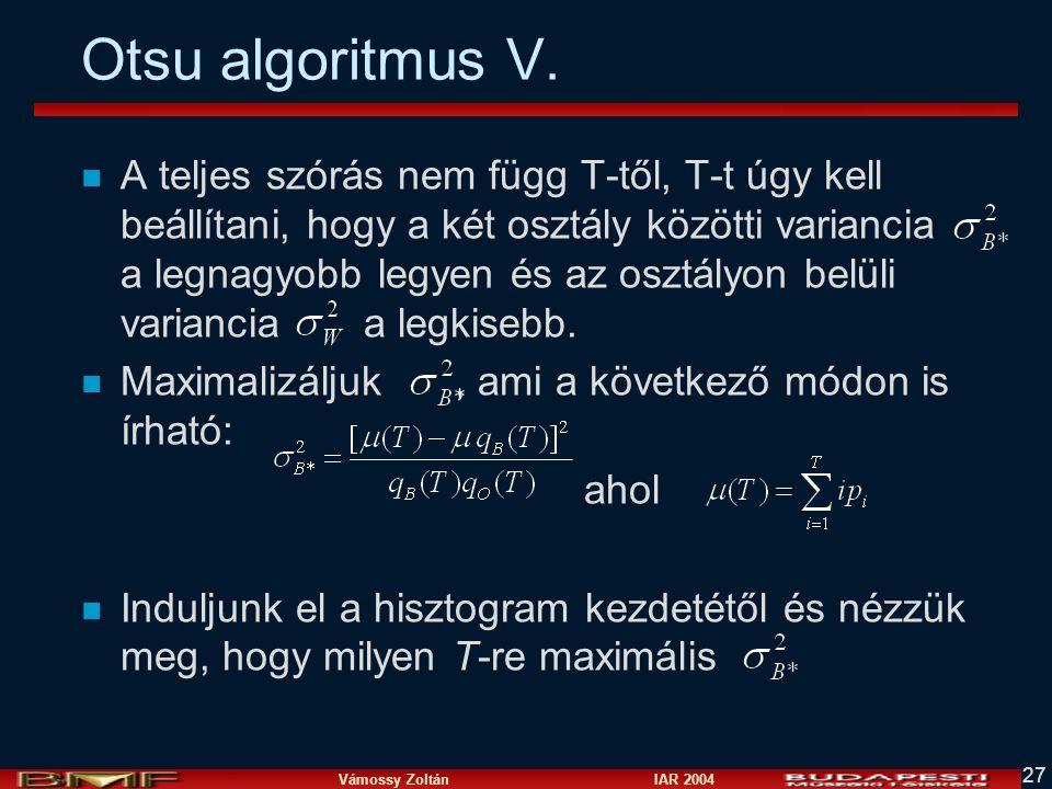 Otsu algoritmus V.
