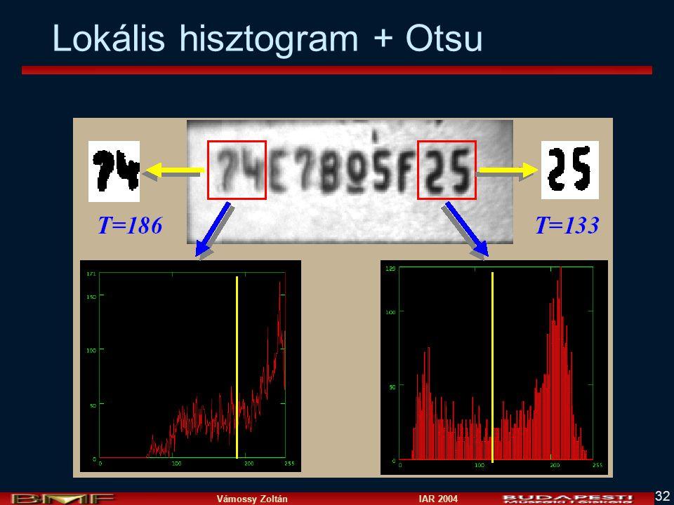 Lokális hisztogram + Otsu