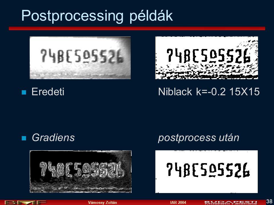 Postprocessing példák