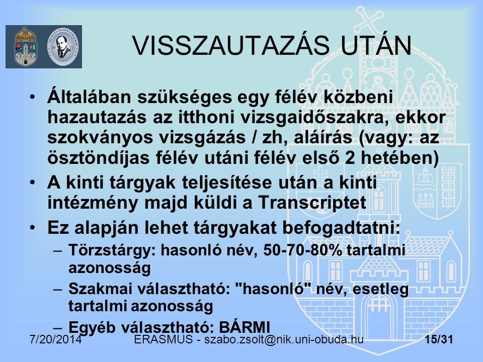 ERASMUS - szabo.zsolt@nik.uni-obuda.hu