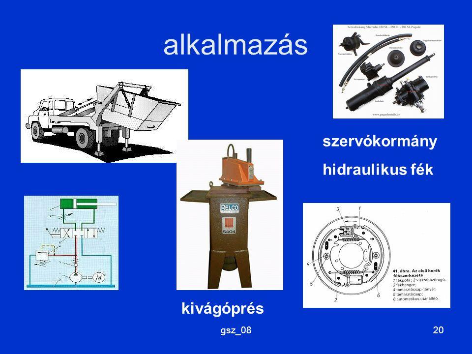 alkalmazás szervókormány hidraulikus fék kivágóprés gsz_08