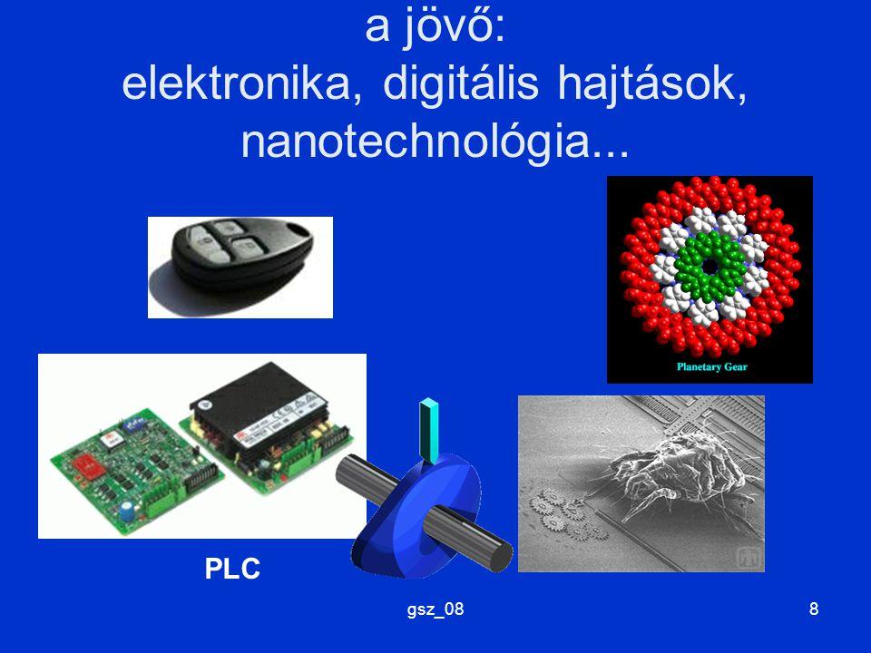 a jövő: elektronika, digitális hajtások, nanotechnológia...