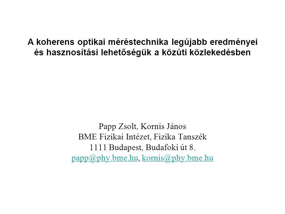 Papp Zsolt, Kornis János BME Fizikai Intézet, Fizika Tanszék
