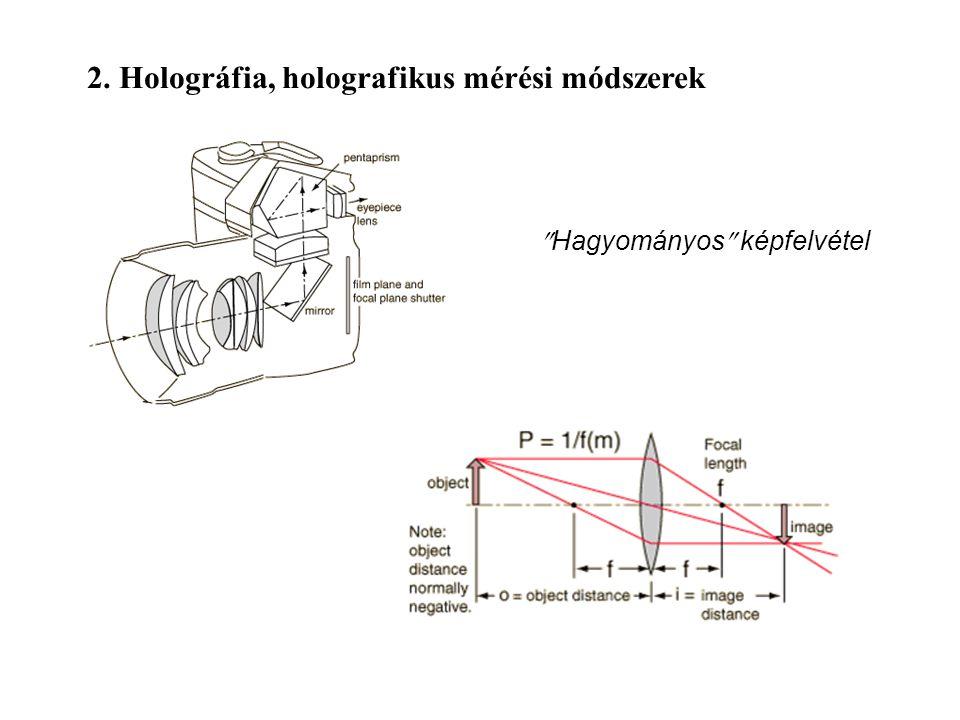 2. Holográfia, holografikus mérési módszerek