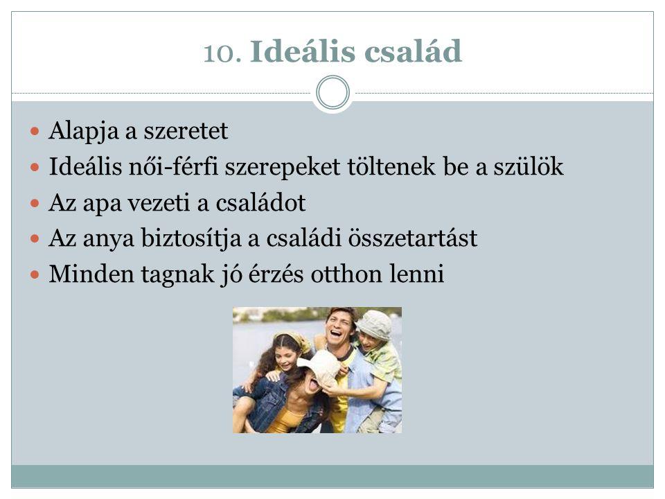 10. Ideális család Alapja a szeretet