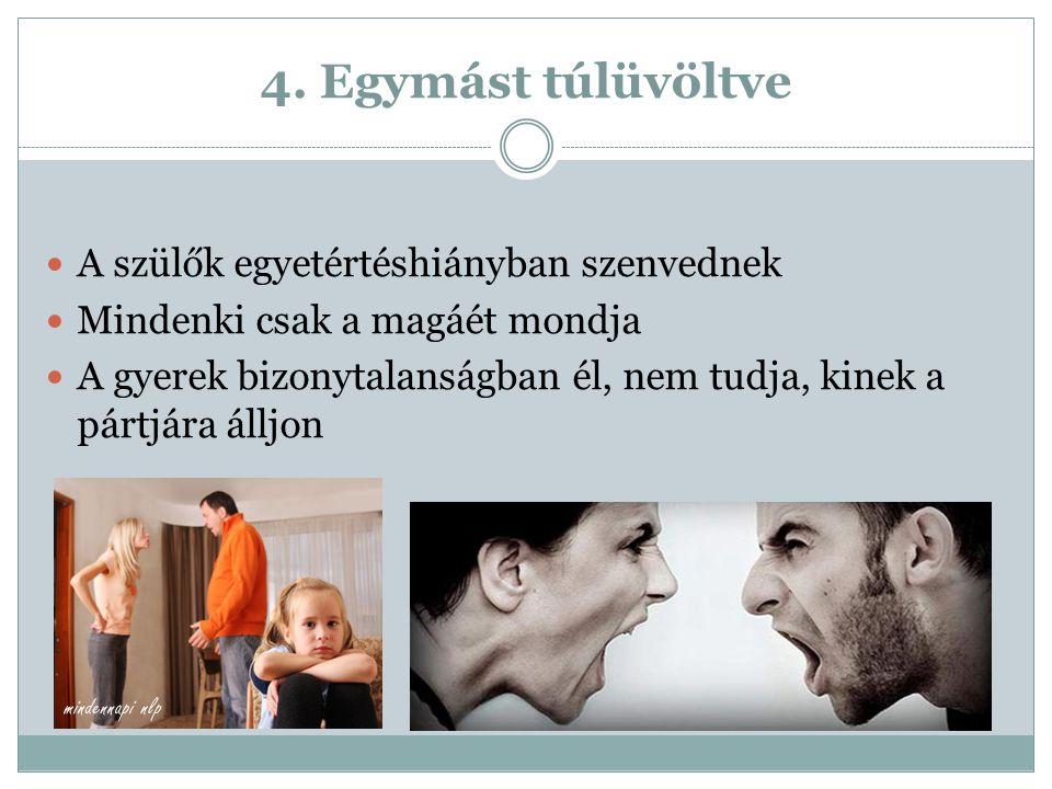 4. Egymást túlüvöltve A szülők egyetértéshiányban szenvednek