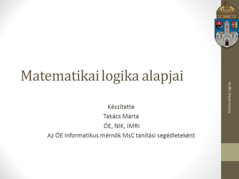 Matematikai logika alapjai