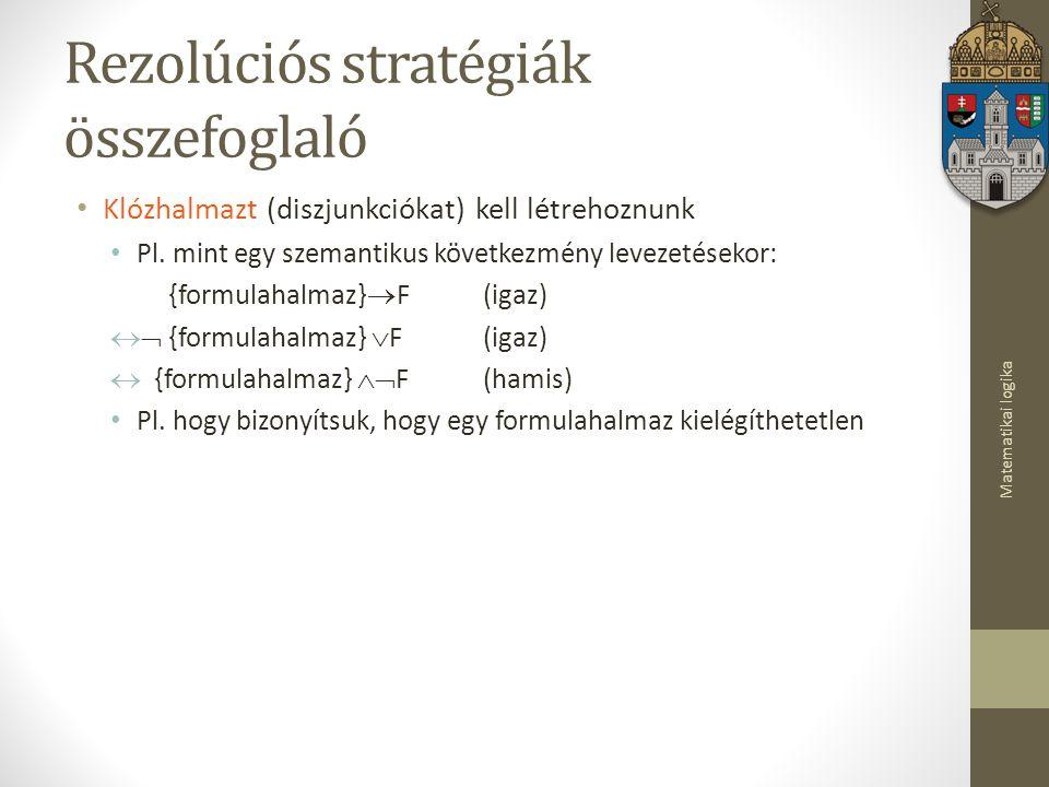 Rezolúciós stratégiák összefoglaló
