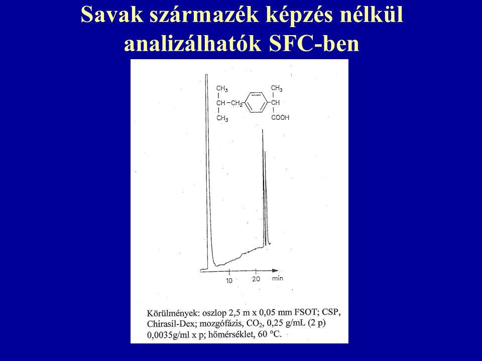 Savak származék képzés nélkül analizálhatók SFC-ben