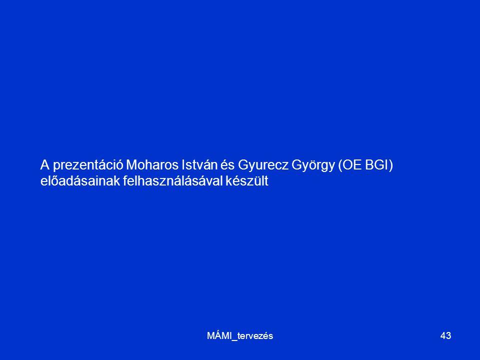 A prezentáció Moharos István és Gyurecz György (OE BGI) előadásainak felhasználásával készült