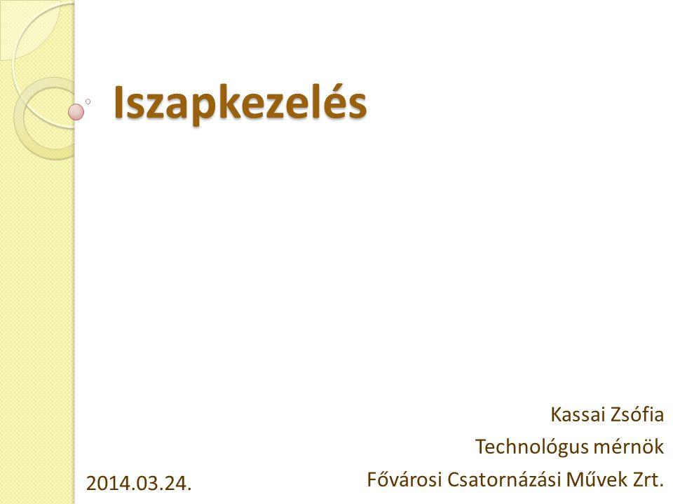 Kassai Zsófia Technológus mérnök Fővárosi Csatornázási Művek Zrt.