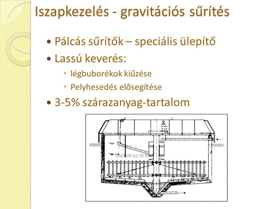 Iszapkezelés - gravitációs sűrítés