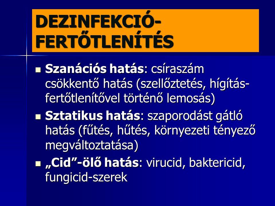 DEZINFEKCIÓ-FERTŐTLENÍTÉS