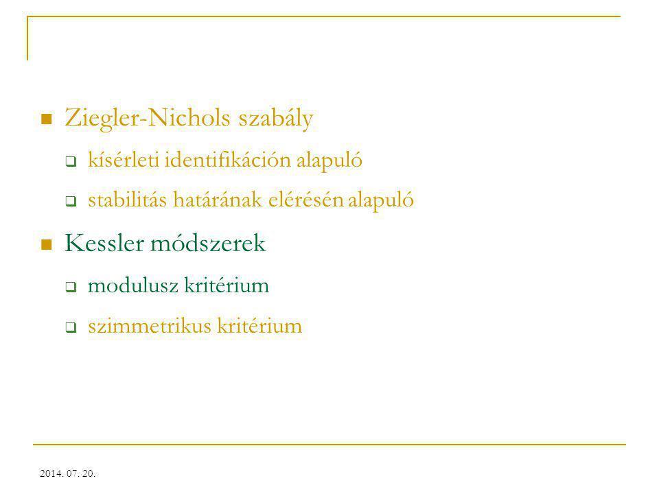 Ziegler-Nichols szabály