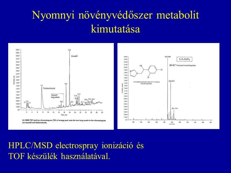 Nyomnyi növényvédőszer metabolit kimutatása