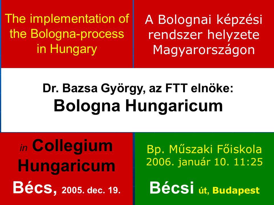 Dr. Bazsa György, az FTT elnöke: