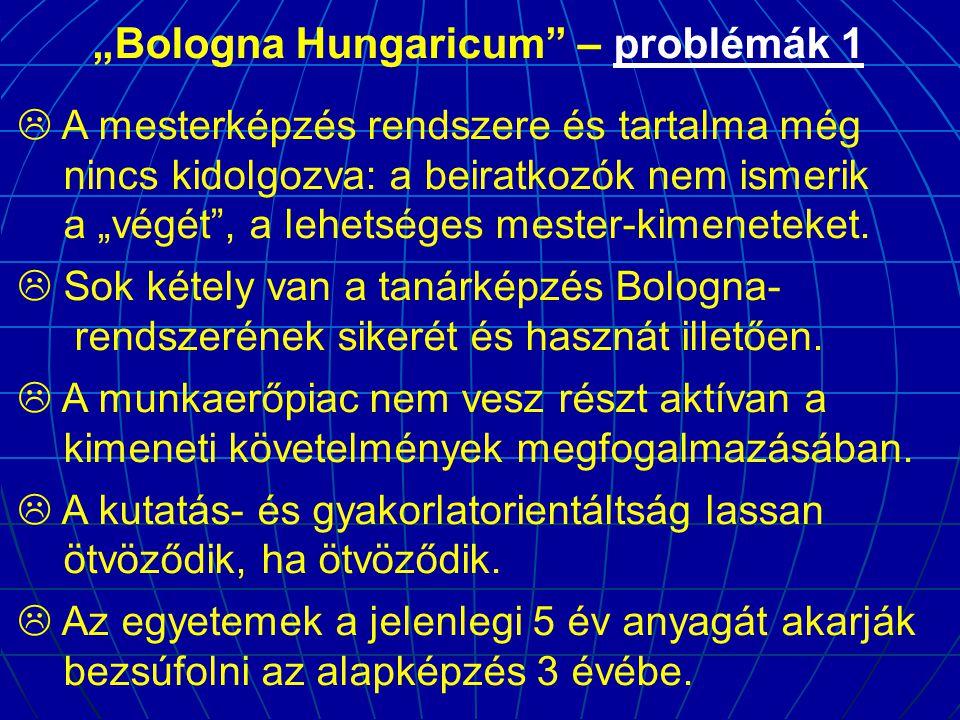 """Bologna Hungaricum – problémák 1"
