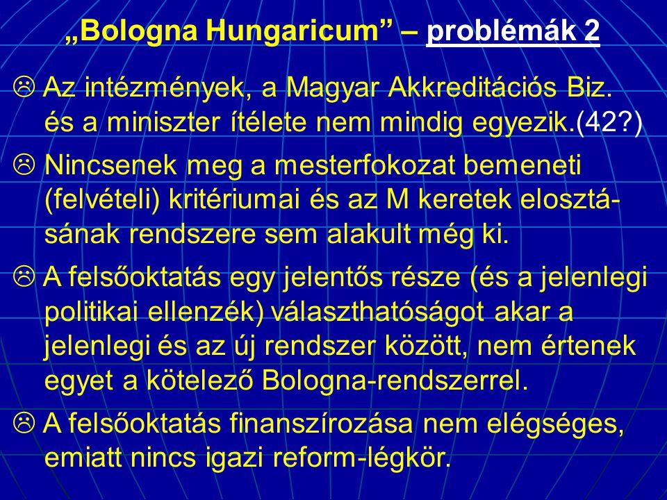 """Bologna Hungaricum – problémák 2"