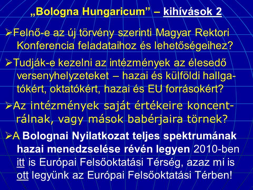 """""""Bologna Hungaricum – kihívások 2"""
