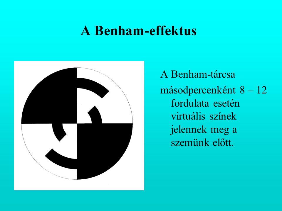 A Benham-effektus A Benham-tárcsa