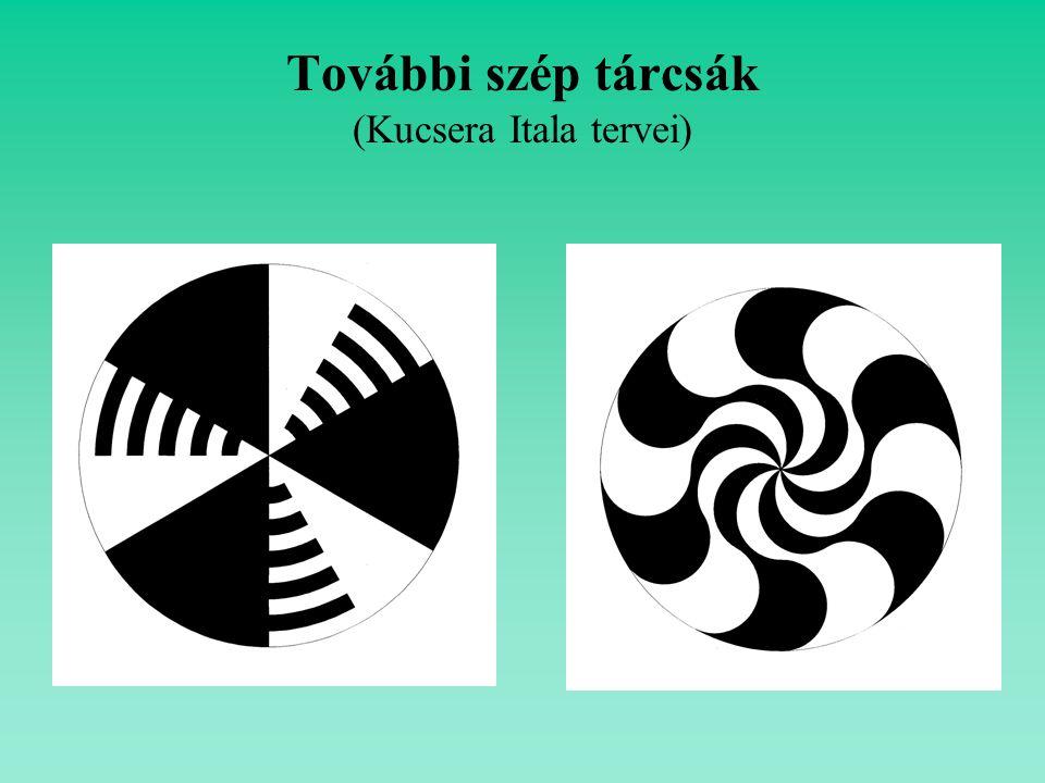 További szép tárcsák (Kucsera Itala tervei)